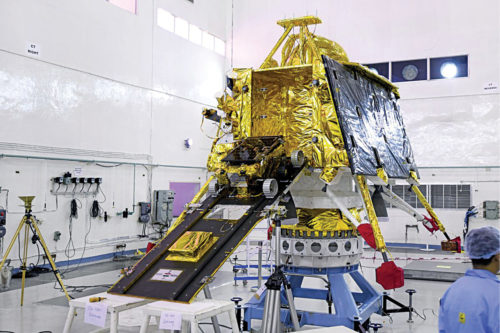 Chandrayaan-2 Vikram lander and rover before launch