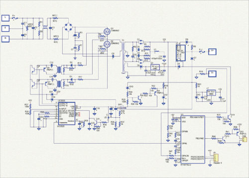 EV charger schematic for 48V/12A