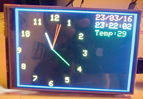 Author's prototype for GPS analogue clock
