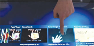 IR Frames in Multi Touch Technology