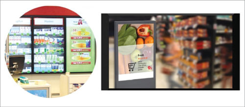 Innovative product presentation for the future [Credit: Eyefactive Interactive Systems (L) and Kiosk industry (R)]