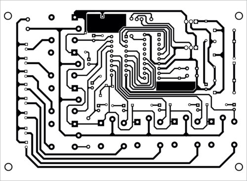 PCB layout for the device controller