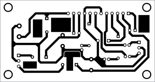 PCB layout for the stereo amplifier