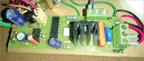 Author's prototype for power-on delay timer