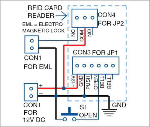 Wiring diagram of access control system Installation