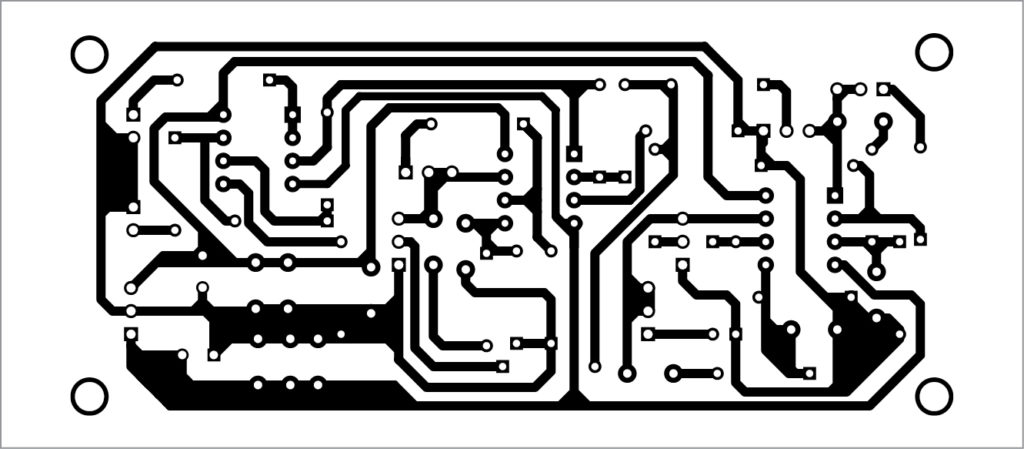 PCB layout for triple sine wave generator