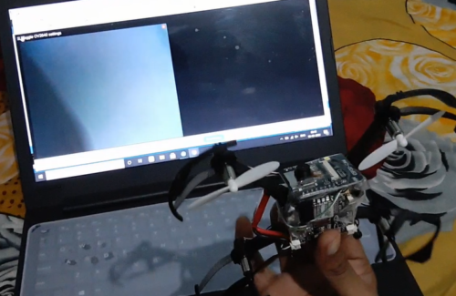 ESP 32 cam showing live video from low cost drone