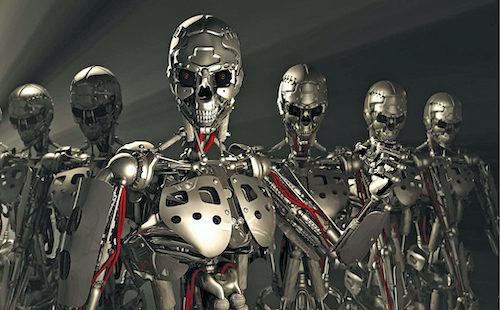 Representation of AI-robotic armies (Credit: lifeboat.com)