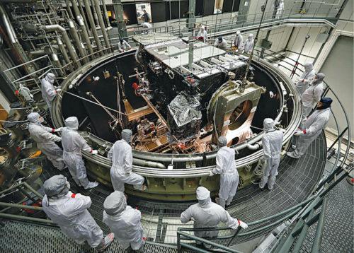 Satellite thermal vacuum testing