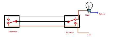 2 Way switch connection