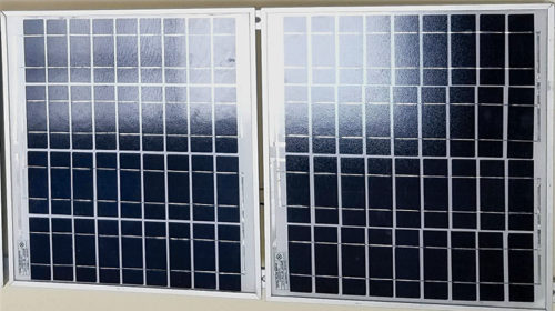Two 10Wp PV panels (Size: 600mm×350mm)