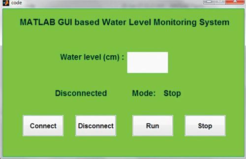 Screenshot of MATLAB based GUI