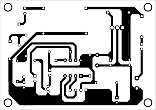 PCB layout of Zener meter