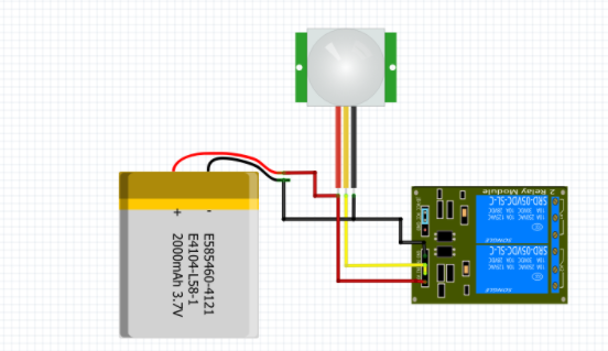 Circuit diagrm for Automatic Lights and Door Without Microcontroller