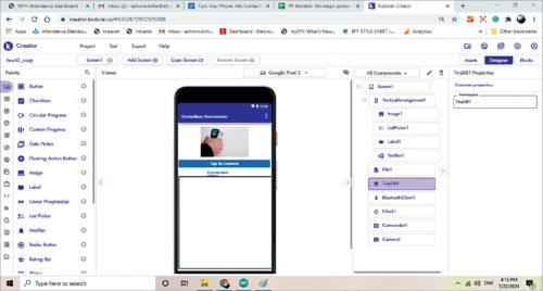 App layout in Kodular platform