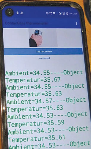 Temperature readings on mobile phone