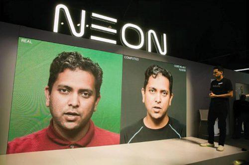 Neon-virtual humanoid