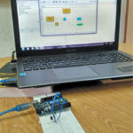 Authors' prototype wired on breadboard