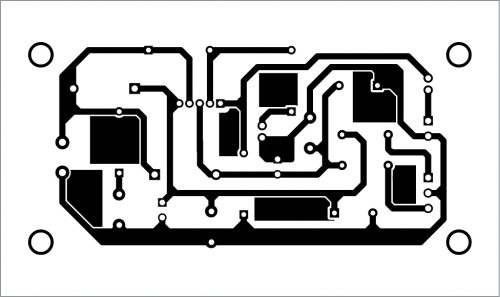 PCB layout of the amplifier