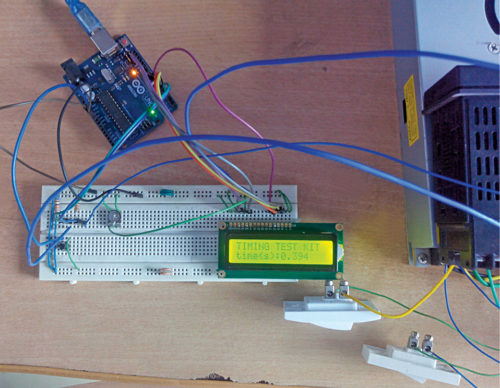 Author's prototype of the timer kit