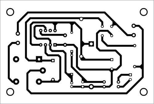PCB layout for the smart bulb holder