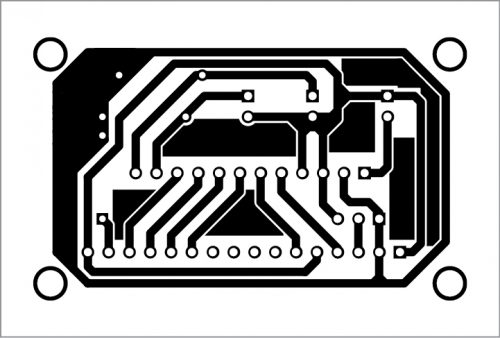 PCB layout for the timer kit