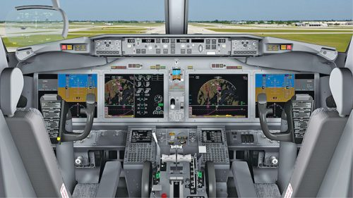 Avionics inside an aircraft cockpit (Credit: Aviation Today)
