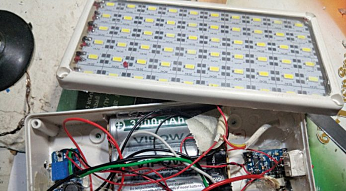 LED Emergency Light Cum Power Bank + Mini Fan Driver