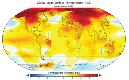 Representation of global warming (Credit: www.space.com)