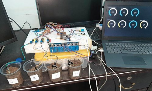 Author's prototype for smart agriculture system