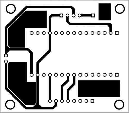 PCB layout for transmitter circuit