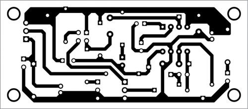 PCB layout for the automatic water dispenser