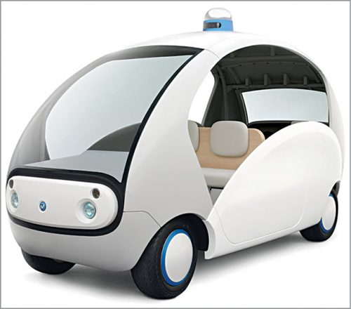 One autonomous micromobility concept under development (Credit: https://www.yasuhideyokoi.com)