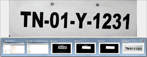 Vehicle number plate detected by the software