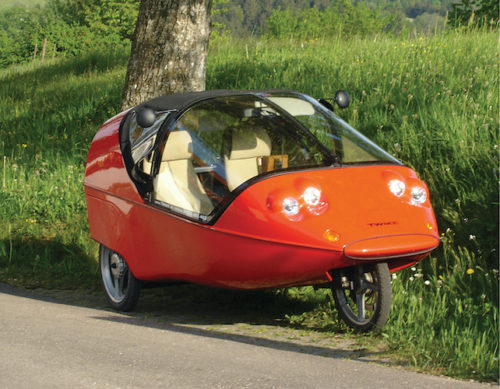 TWIKE is the world's oldest only human electric hybrid car (Credit: https://upload.wikimedia.org)