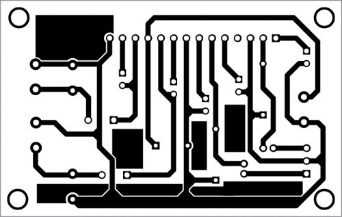 PCB layout of the stereo amplifier