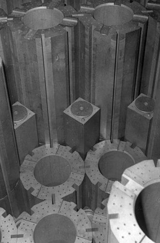 Graphite blocks in a nuclear reactor (Source: www.popularmechanics.com)