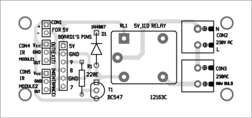 Components layout of the PCB