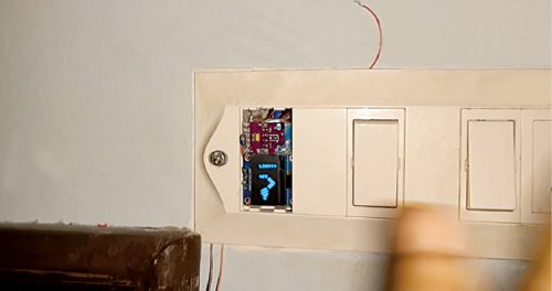 Prototype of gesture-controlled contactless switch with OLED display