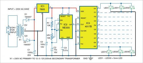 Circuit diagram for the lights