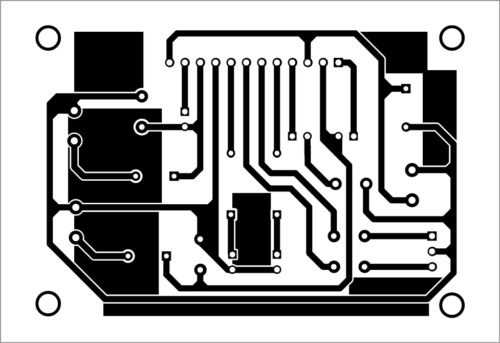 PCB layout for the amplifier