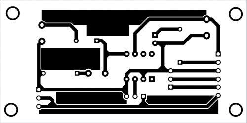 PCB layout for motion sensor alarm