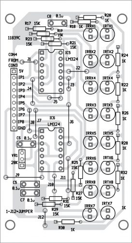 Components layout of the PCB for Fig. 6
