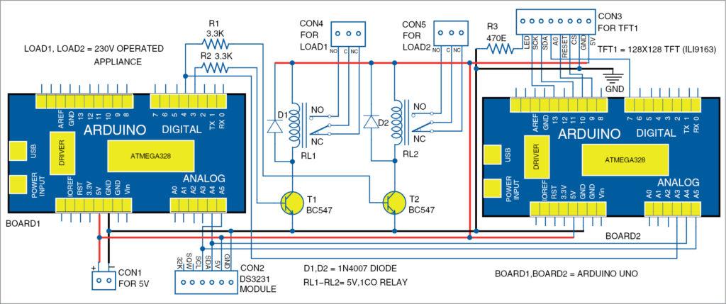 Circuit diagram of dual sharing RTC