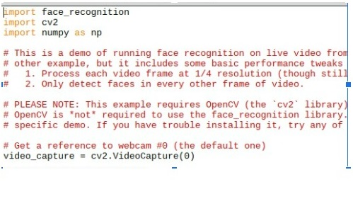 Face recognition code