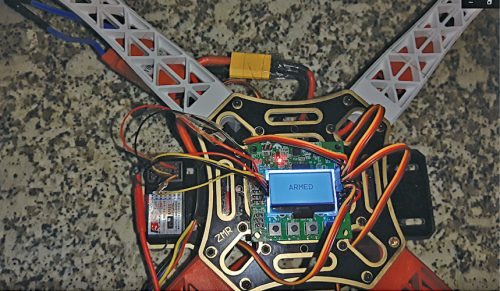 Flight controller in armed position