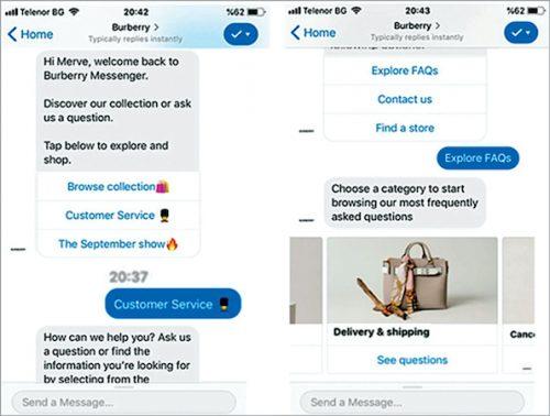 Burberry chatbot