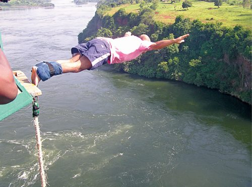 Rafting on Nile river