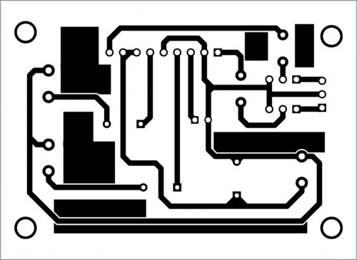 PCB layout for stereo amplifier
