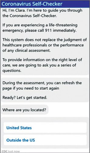 CDC corona virus chatbot